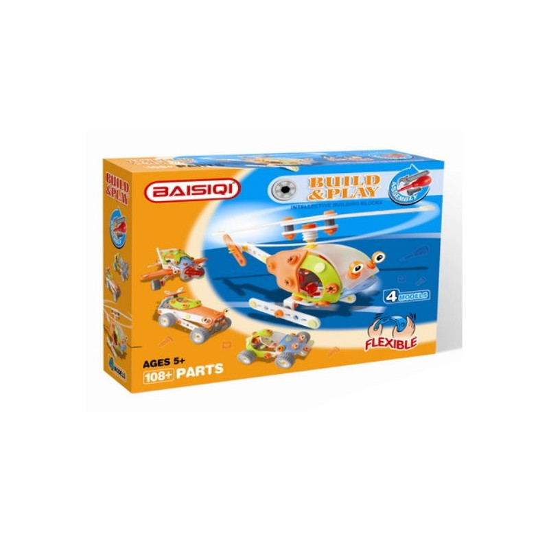 Baisiqi - Build & Play Helicopter 4 Models
