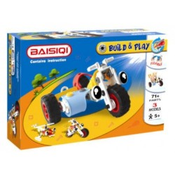 BAISIQI Build & Play Trike, Bike & Helicopter 6828
