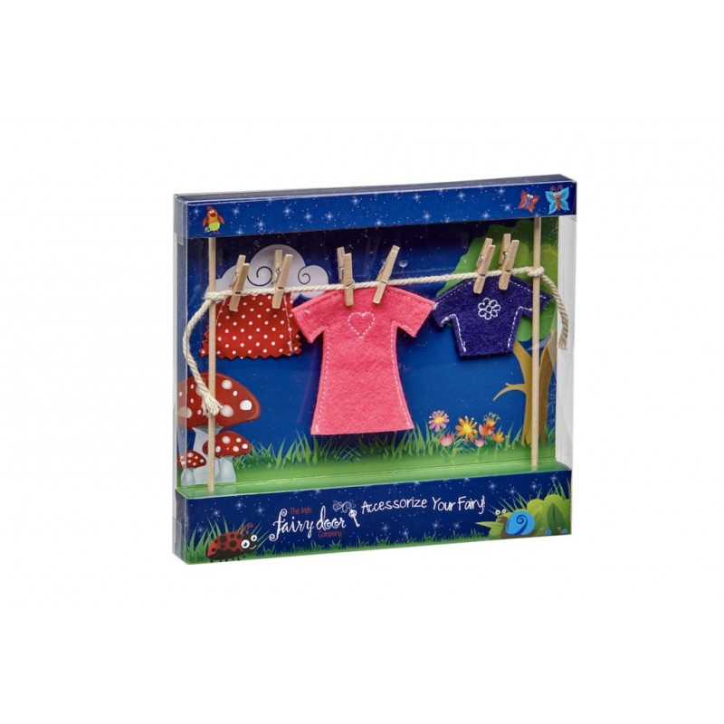 Irish Fairy Door Clothes Line