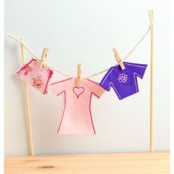 Irish Fairy Door Clothes Line