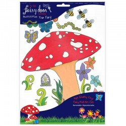 Irish Fairy Door Toadstool Wall Art