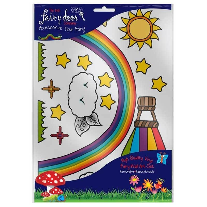 Irish Fairy Door Rainbow Wall Art Pack