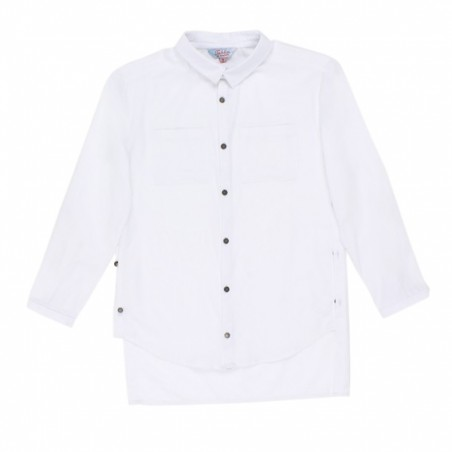 Tahlia by Minihaha - Seattle L/S Shirt w.Front Pockets White.