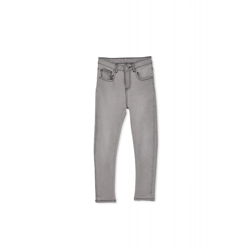Milky - Grey Stitch Denim Jean