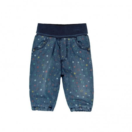 Boboli - Denim trousers for baby girl