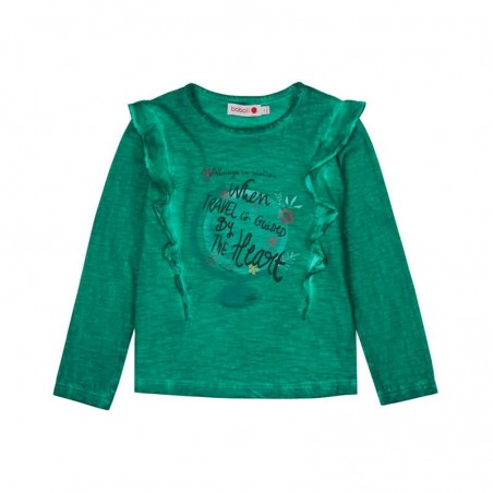 Boboli - Stretch knit T-shirt flame for girl