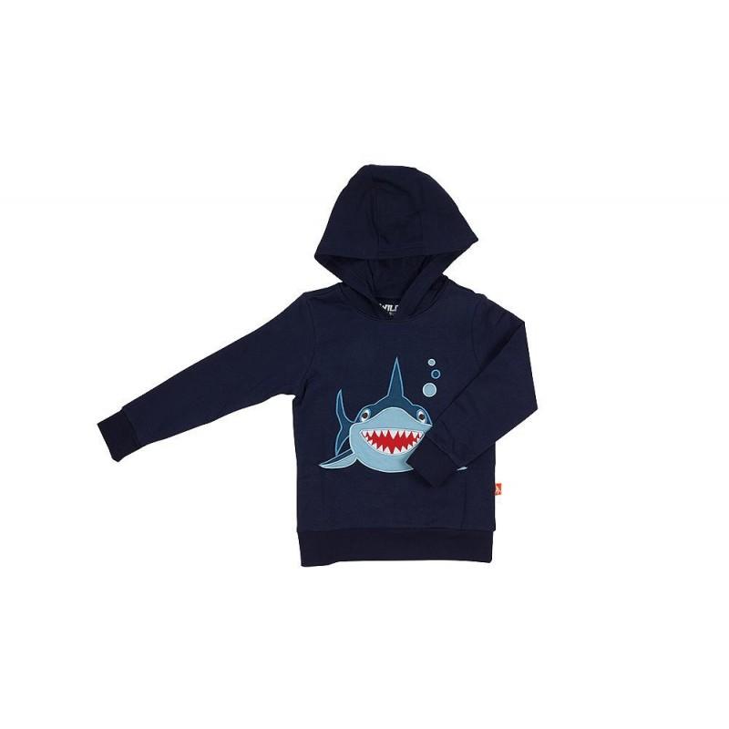 Wild Republic Hoodie Shark Navy