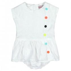 Boboli - Batiste Dress embroidered for baby girl