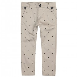 Boboli -Stretch Satin trousers with removable suspenders for boy