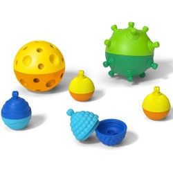 Lalaboom 2 Sensory Balls with 8pcs Beads