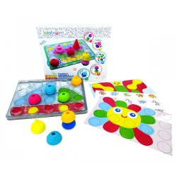 Lalaboom Peg Board with 20pcs Beads