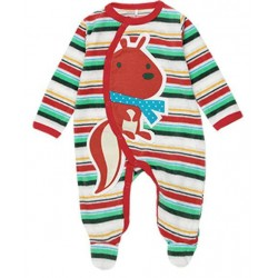 Boboli - Velour striped playsuit for baby