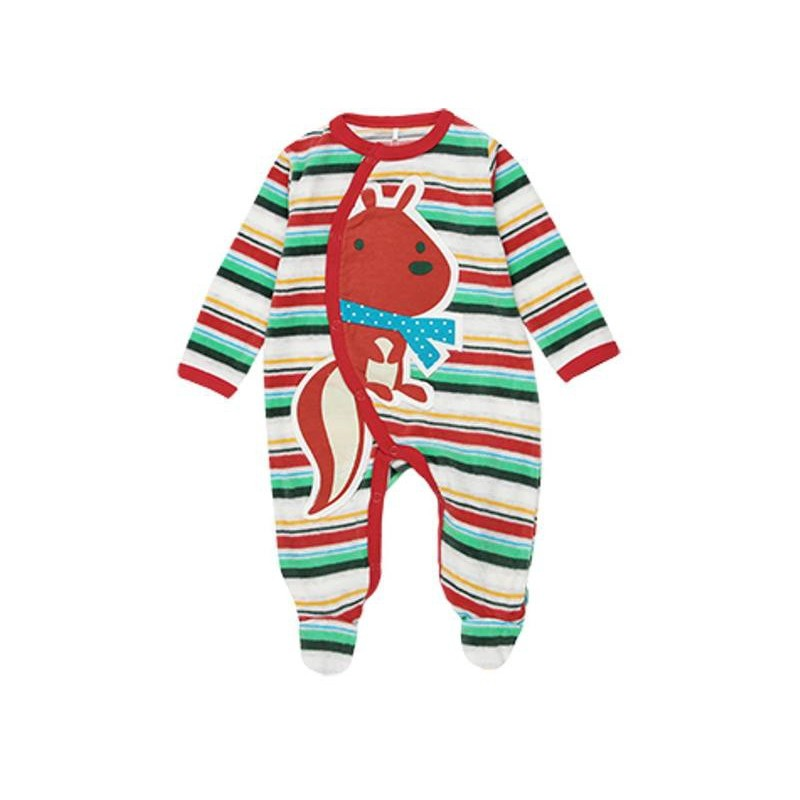 Boboli - Velour striped playsuit for baby