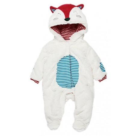 Boboli - Baby fur playsuit