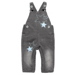 Boboli - Fleece denim overalls for baby boy