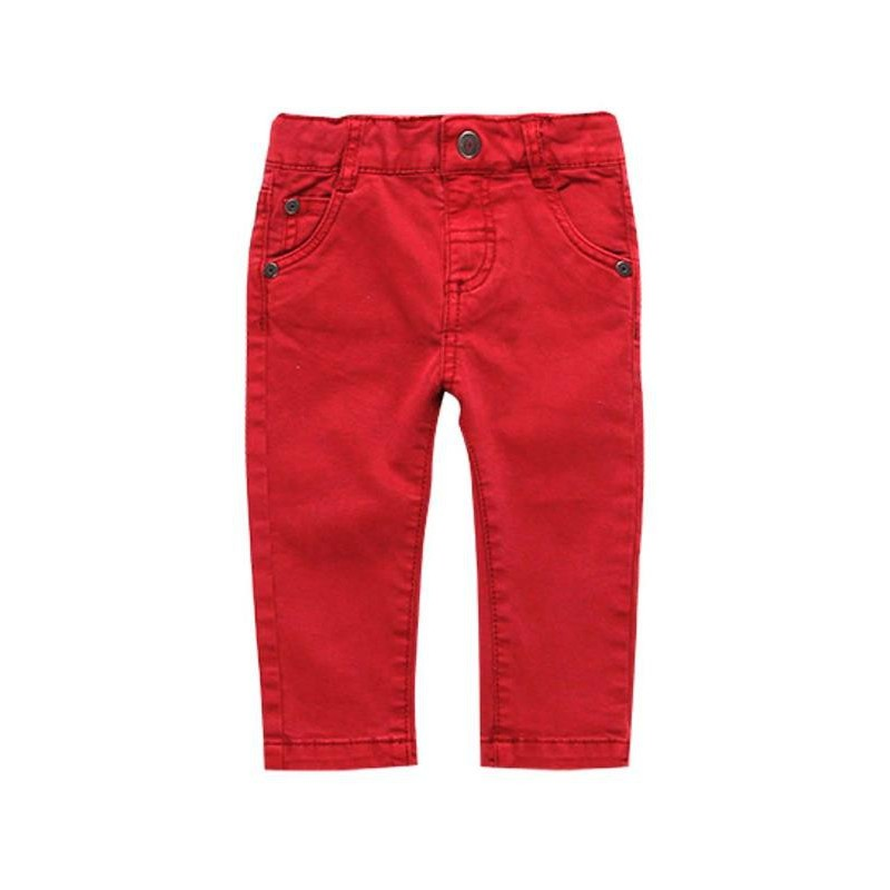 Boboli - Red stretch twill trousers for boy