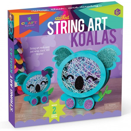 Ann Williams - Craft-tastic Stacked String Art Koalas